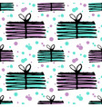 christmas gifts background seamless pattern vector image
