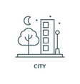 city line icon city outline sign concept vector image
