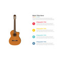 classic guitar infographic template with 4 points vector image