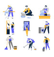cleaning service and household isolated icons vector image vector image