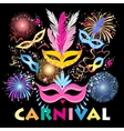 colorful carnival background vector image vector image