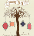 Colorful frames tree concept vector image vector image