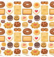 cookie cakes top view sweet homemade breakfast vector image