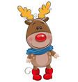 cute christmas deer vector image vector image