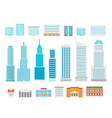 different city elements collection modern city vector image