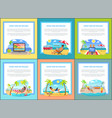 distant work and freelance set web posters people vector image vector image
