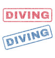 diving textile stamps vector image