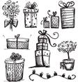 Doodle presents vector image vector image