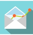 E-mail concept flat icon vector image vector image