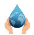 earth planet drop water vector image