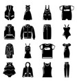 fashion clothes wear icons set simple style vector image vector image