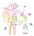 Freedom spring tree vector image