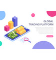 global trading platform or financial management vector image vector image