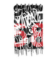graffiti tags print design graphic vector image vector image