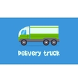 green delivery truck vector image