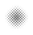 grey circle halftone vector image