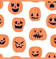 halloween scary pumpkin pattern 5 vector image