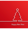 Happy New Year paper postcard vector image vector image