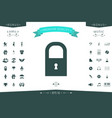 lock icon symbol vector image