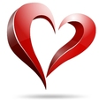 Logo heart shape design vector image vector image