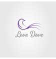 love dove design template vector image