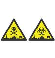 milan danger emergency biological hazard signs vector image vector image