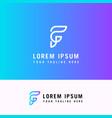 minimal logo design f letter logo minimalist logo vector image