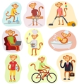 Monkey people vector image vector image