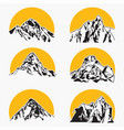 mountains silhouettes logo vector image vector image