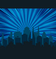night cityscape comic background vector image vector image