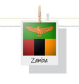 photo of zambia flag vector image vector image