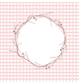 Pink Leaf Round Frame vector image vector image