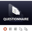 Questionnaire icon in different style vector image vector image