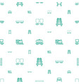 rail icons pattern seamless white background vector image vector image
