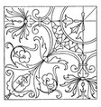 renaissance square panel is found in siena vector image vector image