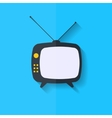 Retro tv icon Flat design vector image