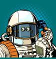 robot astronaut talking on phone vector image vector image