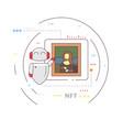 robot presentation vector image