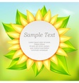 Round flower icon vector image vector image