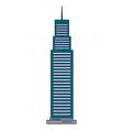 skyscraper building isolated icon vector image vector image