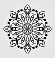 snowflake icon isolated on white background vector image