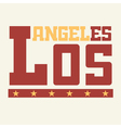 T shirt Los Angeles California vector image vector image