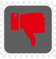 Thumb Down Rounded Square Button vector image