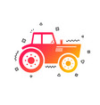 tractor sign icon agricultural industry symbol vector image