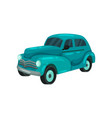 traditional cuban car on a white background vector image