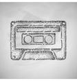 audiocassette icon vector image