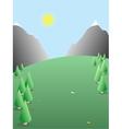 Seasonal landscape nature background vector image