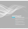 gray wave abstract background vector image