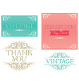 Thank You Typographic Design vector image