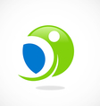 round sport people fitness logo vector image